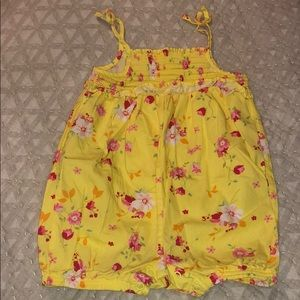 First impressions floral romper 3-6 months